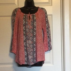 Lucky Brand Live In Love Blouse